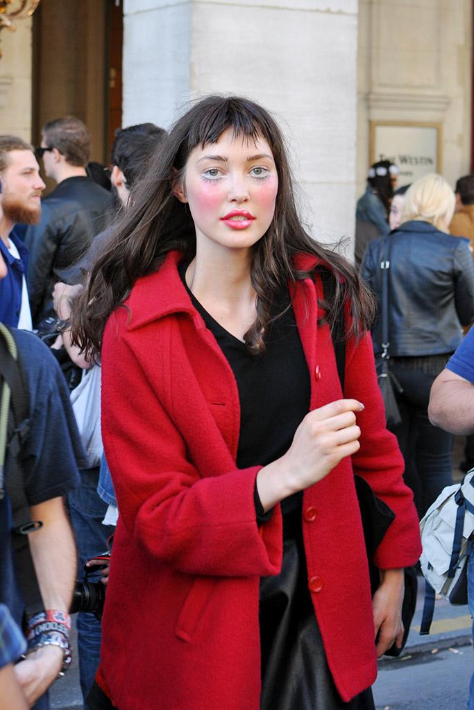 model after Vivienne Westwood