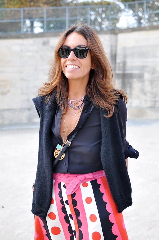 Viviana Volpicella wearing Valentino