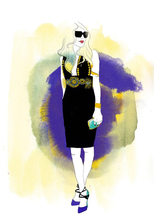 Anna Dello Russo Illustration