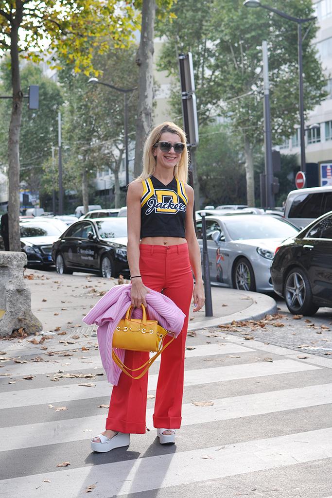 Natalie Joos with crop top
