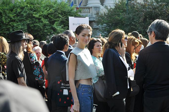 Sofia Sanchez Barrenechea with crop top