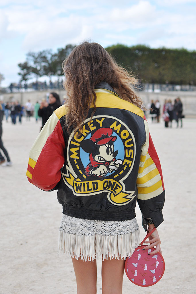 mickey mouse leather jacket